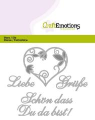 115633-0408 Craftemotions Text Stanzschablone Liebe Grüße