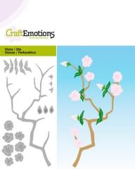 115633-0187 Stanzschablone Blütenzweig