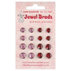 LCR72.1437 Jewel Brads bordeaux/licht pink 8x 8mm und 8 x10 mm