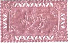 1223 Satindeckchen rosa