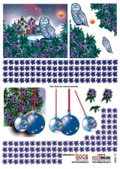2006-12 3 D Bogen Eule - Weihnachtskugeln