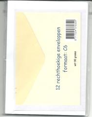 370329 12 rechteckige Briefumschläge C6 weiß