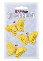 3866094 Florella Schmetterlinge aus Maulbeerpapier ca. 6 cm gelb