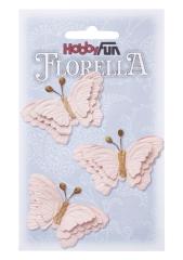 3866096 Florella Schmetterlinge aus Maulbeerpapier ca. 6 cm zart rosa