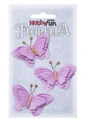 3866098 Florella Schmetterlinge aus Maulbeerpapier ca. 6 cm lavendel