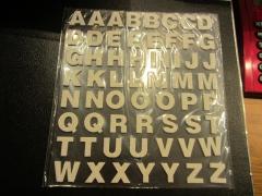 Bweiß Foam Buchstaben mit Glitter weiß
