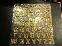 Bgold Foam Buchstaben mit Glitter gold