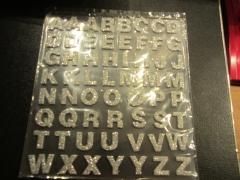 Bsilber Foam Buchstaben mit Glitter silber