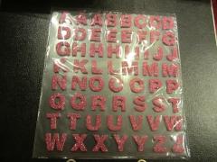 Brot Foam Buchstaben mit Glitter rot
