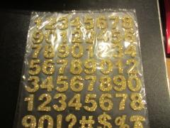 Zgold Foam Zahlen mit Glitter gold