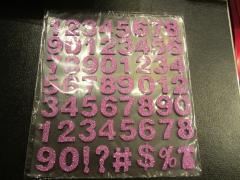 Zlila Foam Zahlen mit Glitter lila