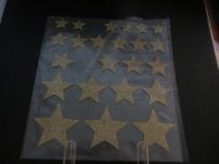 Sterngold Foam Stern gold mit Glitter