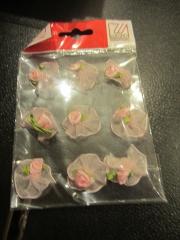 RoserosaRosen auf Tüll rosa