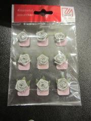 9 Rosen silber