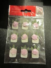 9 Rosen rosa