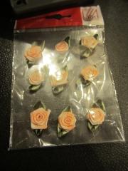9 Rosen meliert