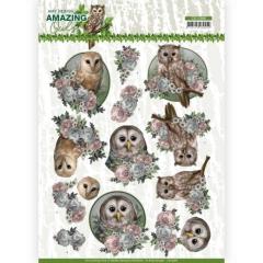 CD11566 AD Schneidebogen Amazing Owls Romantische Eule