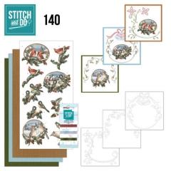 STDO140 Stitch & Do 140 Nostalgische Weihnachten  Vögel