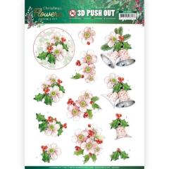 SB10481 JA Stanzbogen Christmas Flowers -  Pink Christmas Flowers
