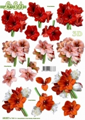 680007 Stanzbogen 3 x Blumen