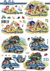 680032 Stanzbogen Urlaub-Zelt/Auto