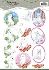 CD11423 JA Schneidebogen Winter Animals