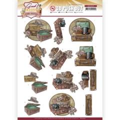 SB10509 YC Stanzbogen Good old Days Suitcase
