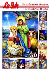 345656 3D Motivbuch A5 Weihnachtskrippe