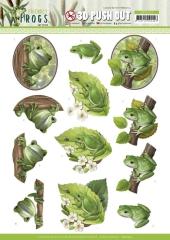 SB10523 AD Stanzbogen Friendly Frogs - Tree Frogs