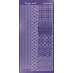 STDM019 Hobby Dots Sticker Mirror Purple