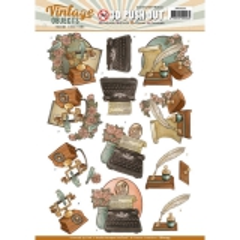 SB10255 YC Stanzbogen Vintage Objects Alte Sachen