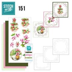 STDO151 Stitch & Do 151 JA Welcome Spring Willkommen Frühling