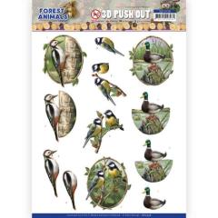 SB10538 AD Stanzbogen Forest Animals - Woodpecker