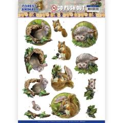 SB10537 AD Stanzbogen Forest Animals - Rabbit
