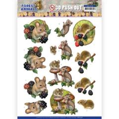 SB10536 AD Stanzbogen Forest Animals - Mouse