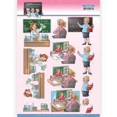 CD11666 YC Schneidebogen Chemikerin Homeschooling - Lehrerin