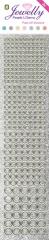 3.8064 Jewelly P&G Dots Pearl Silver 2 Bogen 5x23 cm