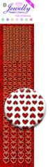 3.8071 Jewelly Pearls & Gems Hearts Diamond Red, 2 Bogen