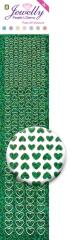 3.8072 Jewelly Pearls & Gems Hearts Diamond Green, 2 Bogen