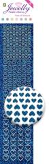3.8073 Jewelly Pearls & Gems Hearts Diamond Blue, 2 Bogen