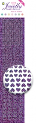 3.8074 Jewelly Pearls & Gems Hearts Diamond Purple, 2 Bogen