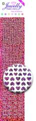 3.8075 Jewelly Pearls & Gems Hearts Diamond Pink, 2 Bogen