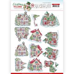 SB10474 Stanzbogen YC Christmas Village Christmas Haus