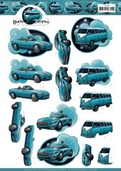 CD11453 YC Schneidebogen Blaue Autos
