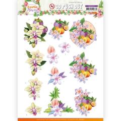 SB10572 JA Stanzbogen Exotic Flowers - Purple Flowers