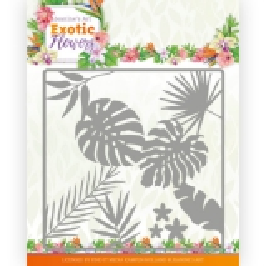JAD10130 JA Stanzschablone Exotic Flowers - Leaf and Flower Frame