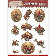 SB10565 AD Stanzbogen History of Christmas - Christmas Candles