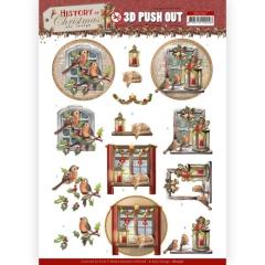 SB10567 AD Stanzbogen History of Christmas - Christmas Window