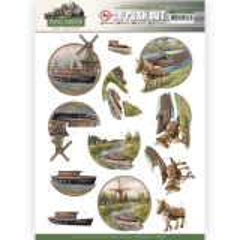 SB10577 Stanzbogen Amy Design - Vintage Transport - Boat Umschreibung
