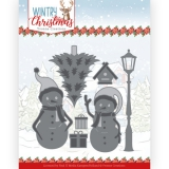 YCD10244 YC Stanzschablone Wintry Christmas Snow Friends